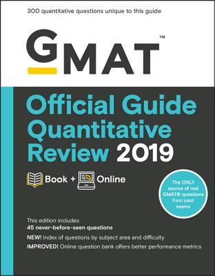 GMAT Official Guide Quantitative Review 2019: Book + Online Cover Image