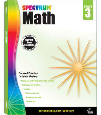 Spectrum Math Workbook, Grade 3 Cover Image