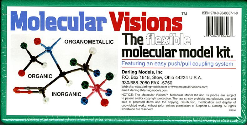 Molecular Visions (Organic, Inorganic, Organometallic) Molecular Model Kit #1 by Darling Models to Accompany Organic Chemistry Cover Image