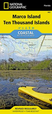 Marco Island, Ten Thousand Islands (National Geographic Trails Illustrated Map #402) Cover Image