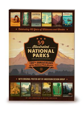 59 Illustrated National Parks - Softcover: 100th Anniversary of the National Park Service Cover Image