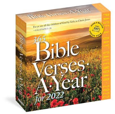 Biblical Calendar 2022.365 Bible Verses A Year Page A Day Calendar 2022 Daily Children S Book World