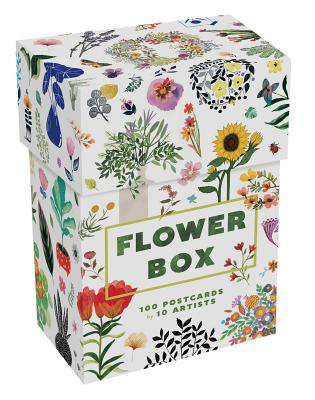 Flower Box: 100 Postcards by 10 artists (100 botanical artworks by 10 artists in a keepsake box) Cover Image