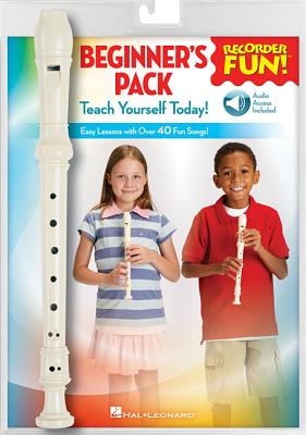 Recorder Fun! Beginner's Pack with Flute: Teach Yourself Today - Easy Lessons with Over 40 Fun Songs! Cover Image