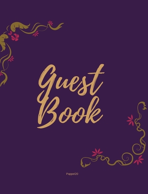 Guest Book - Golden Frame #5 on Pink Paper Cover Image