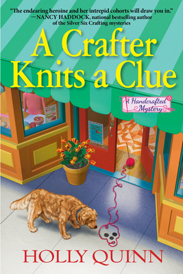 Cover for A Crafter Knits a Clue (A Handcrafted Mystery #1)