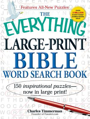 The Everything Large-Print Bible Word Search Book: 150 inspirational puzzles - now in large print! (Everything®) Cover Image