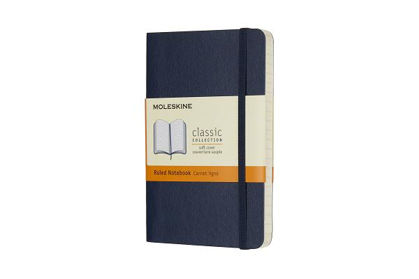 Moleskine Classic Notebook, Pocket, Ruled, Sapphire Blue, Soft Cover (3.5 x 5.5) Cover Image