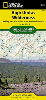 High Uintas Wilderness [ashley and Wasatch-Cache National Forests] (National Geographic Maps: Trails Illustrated #711) Cover Image