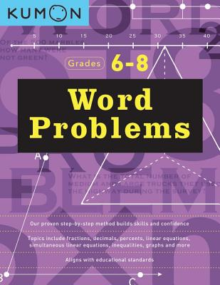 Word Problems Grades 6/8 Cover Image