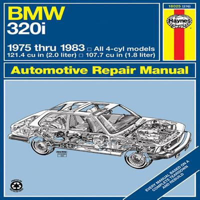 BMW 320i Manual: 1975-1983: '75-'83 (Automotive Repair Manual) Cover Image