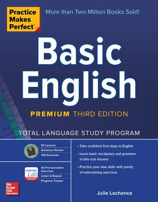 Practice Makes Perfect: Basic English, Premium Third Edition Cover Image