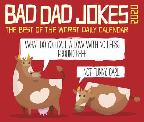 Bad Dad Jokes 2020 Box Calendar Cover Image