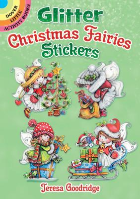 Glitter Christmas Fairies Stickers (Dover Sticker Books) Cover Image