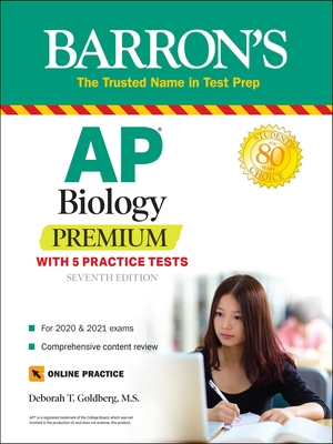 AP Biology Premium: With 5 Practice Tests (Barron's Test Prep) Cover Image