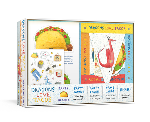 Dragons Love Tacos Party-in-a-Box: Includes Fold-Out Game, Banner, and 20 Sticker Sheets Cover Image