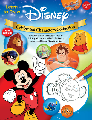 Learn to Draw Disney Celebrated Characters Collection: New edition! Includes classic characters, such as Mickey Mouse and Winnie the Pooh, to current Disney/Pixar favorites (Licensed Learn to Draw) Cover Image