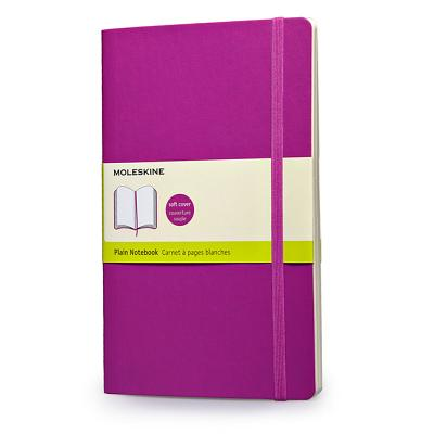 Moleskine Classic Colored Notebook, Large, Plain, Orchid Purple, Soft Cover (5 x 8.25) Cover Image