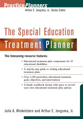 The Special Education Treatment Planner (PracticePlanners #63) Cover Image