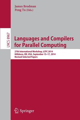 Cover for Languages and Compilers for Parallel Computing