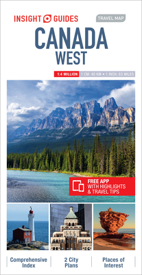 Insight Guides Travel Map Canada West (Insight Travel Maps) Cover Image