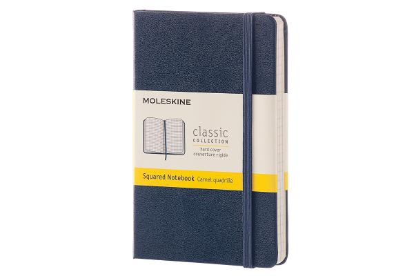 Moleskine Classic Notebook, Pocket, Squared, Sapphire Blue, Hard Cover (3.5 x 5.5) Cover Image