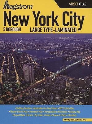 NYC 5 Boro Atlas Large Type Laminated Cover Image