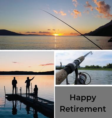 Fishing Retirement Guest Book (Hardcover): Retirement book, retirement gift, Guestbook for retirement, message book, memory book, keepsake, fishing re Cover Image