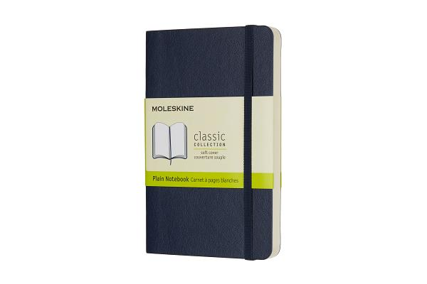 Moleskine Classic Notebook, Pocket, Plain, Sapphire Blue, Soft Cover (3.5 x 5.5) Cover Image
