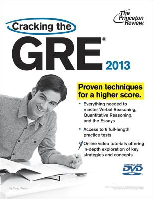 Cracking the GRE with DVD, 2013 Edition Cover
