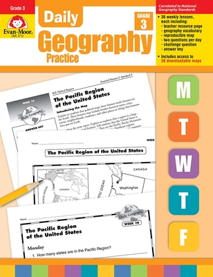 Daily Geography Practice Grade 3: EMC 3712 Cover Image