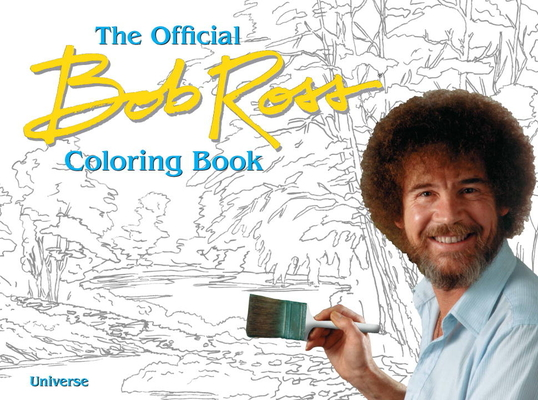 The Bob Ross Coloring Book Cover Image