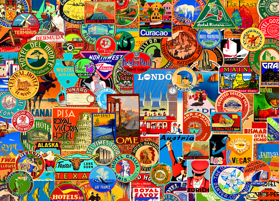 World of Travel 1000-Piece Puzzle Cover Image