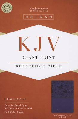 Cover for KJV Giant Print Reference Bible, Purple LeatherTouch Indexed