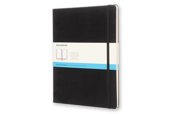 Moleskine Classic Notebook, Extra Large, Dotted, Black, Hard Cover (7.5 x 10) Cover Image