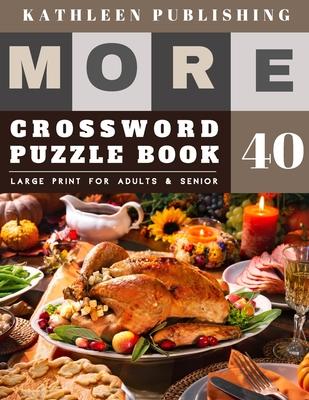Crossword Puzzles Large Print: Crossword Quick - More Crosswords Quiz for beginners Large Print for adults & senior - Happy Thanksgiving design Cover Image