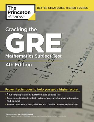 Cracking the GRE Mathematics Subject Test Cover
