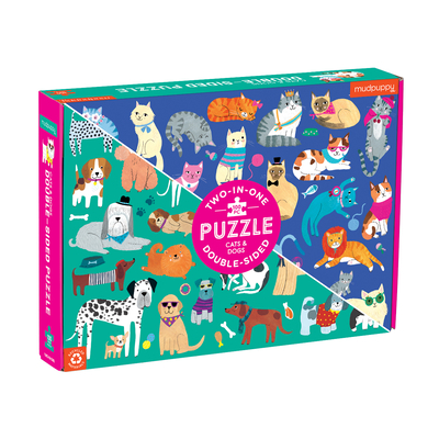 Cats & Dogs 100 Piece Double-Sided Puzzle Cover Image