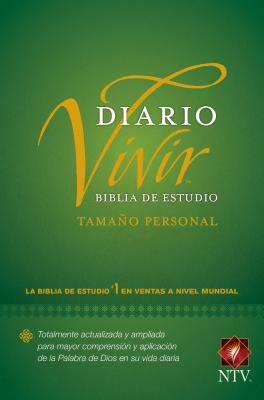 Biblia de Estudio del Diario Vivir Ntv, Tamaño Personal (Letra Roja, Tapa Dura) Cover Image