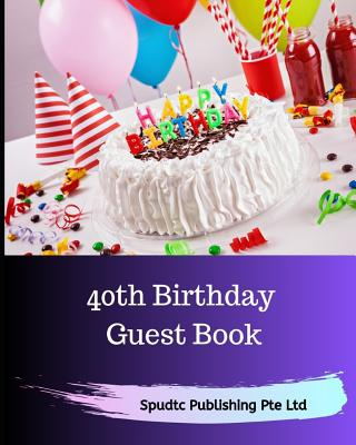 40th Birthday Guest Book Cover Image