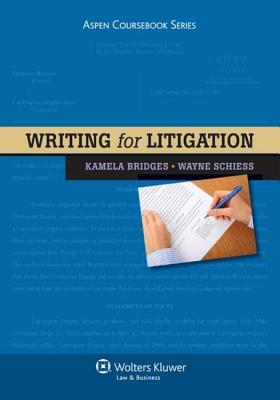 Writing for Litigation (Aspen Coursebooks) Cover Image