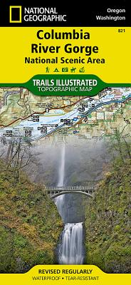 Columbia River Gorge National Scenic Area (National Geographic Trails Illustrated Map #821) Cover Image