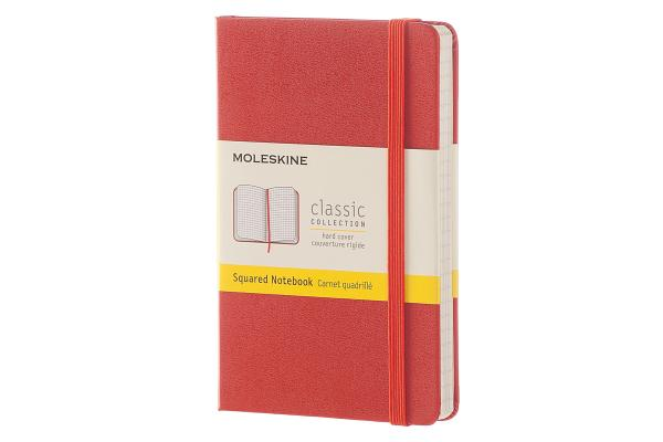 Moleskine Classic Notebook, Pocket, Squared, Coral Orange, Hard Cover (3.5 x 5.5) Cover Image