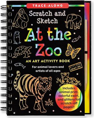 Scratch & Sketch at the Zoo (Trace-Along) [With Wooden Stylus] (Trace-Along Scratch and Sketch) Cover Image