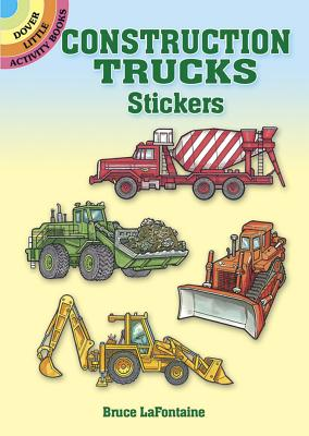 Construction Trucks Stickers (Dover Little Activity Books) Cover Image