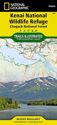 Kenai National Wildlife Refuge [Chugach National Forest] (National Geographic Trails Illustrated Map #760) Cover Image