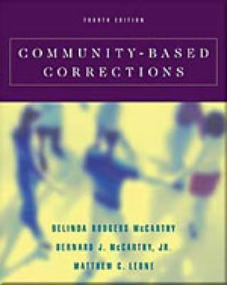 Community-Based Corrections (with Infotrac) [With Infotrac] Cover Image