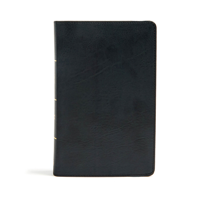 CSB Large Print Personal Size Reference Bible, Black Leathertouch Cover