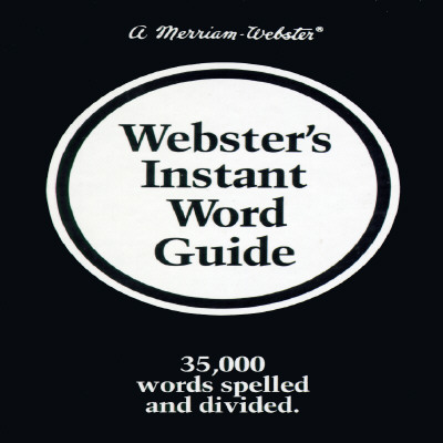 Webster's Instant Word Guide Cover Image