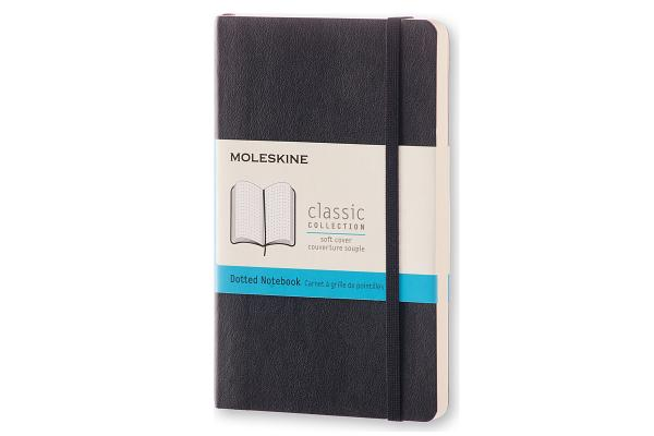 Moleskine Classic Notebook, Pocket, Dotted, Black, Soft Cover (3.5 x 5.5) Cover Image